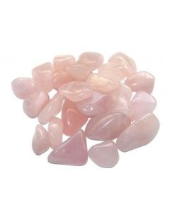 Tumbled stones-Rose qtz 100 grams