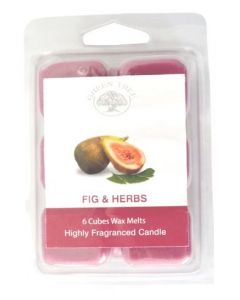 Green Tree Figs & Herbs  Wax Melts 6 stuks - 80 gram