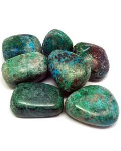 Tumbled stones-Chrysocolla