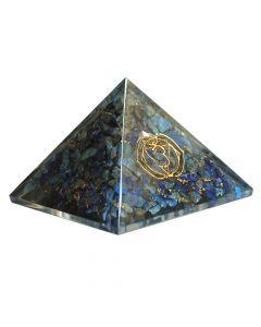 Orgonite pyramid, Third Eye chakra - Sodalite 40mm