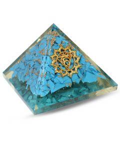 Orgonite Pyramid, Throat chakra - Turquoise