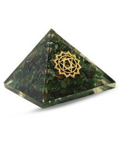 Orgonite pyramid - Heart chakra , Green aventurine