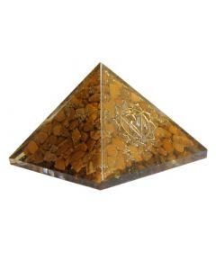 Orgonite pyramid - Solar Plexus chakra Yellow Jasper