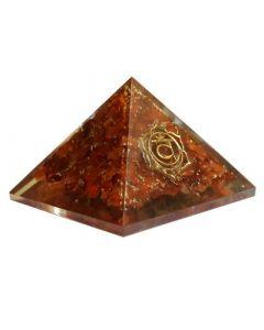 Orgonite pyramid, sacral chakra - carnelian