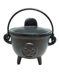 13cm Pentacle Cast Iron Cauldron