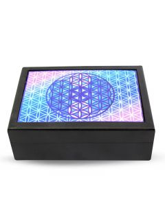 Flower of Life laminated Black box
