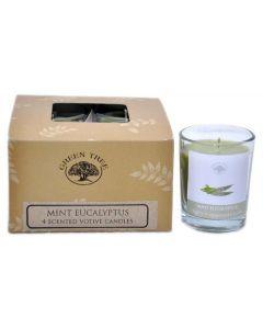 Green Tree Mint Eucalyptus Votives 55 grams