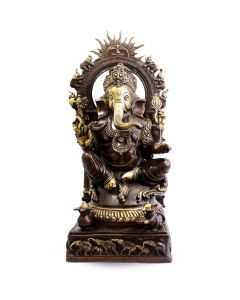 Ganesh Sitting W/ Sun & Elephant  Ring