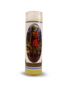 Labelled candle  St. Lazarus