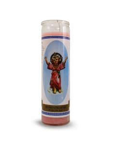 Labelled candle   Divine Child Jesus