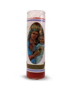 Labelled candle Sacred Heart Mary