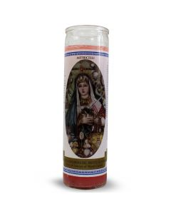 Labelled candle  Mary of Sorrows (Metricelli)