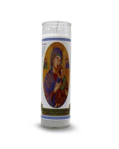 Labelled candle Mother of Perpetual Help