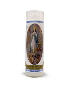 Labelled Candle Immaculate Conception