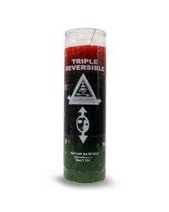 Vela de vidrio Impreso color rojo negro y verde