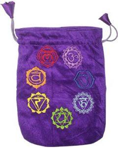 Bolsa de Terciopelo Púrpura Chakra