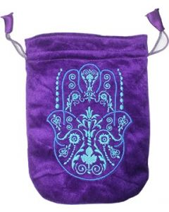 Bolsa de Terciopelo Púrpura Mano de Fátima