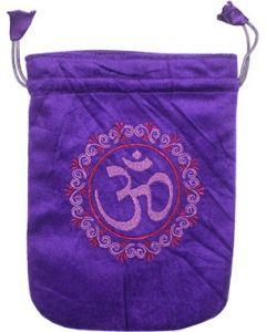Bolsa de Terciopelo Púrpura Om
