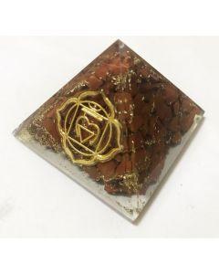 Orgonite Pyramid - Base Chakra Jasper 4cm