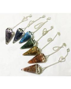 Chakra Orgone Pendulum set