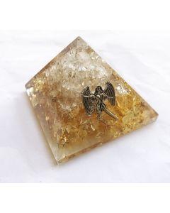 Orgoniet Piramide Bergkristal & Citrien, Aartsengel Uriël