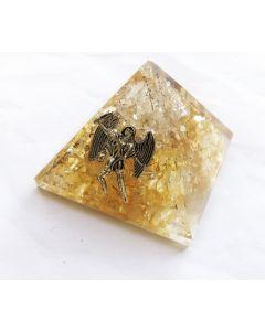 Orgoniet Piramide Bergkristal & Citrien. Aartsengel Uriël 40Mm