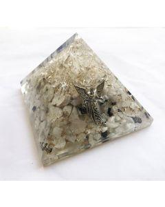 Orgoniet Piramide Bergkristal& Maansteen. Aartsengel Gabriël