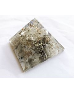 Orgoniet Piramide Bergkristal& Maansteen. Aartsengel Gabriël 40Mm