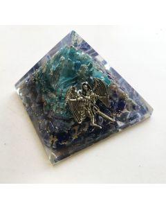 Orgoniet Piramide Aquamarijn&Sodaliet, Aartsengel Michaël 40Mm
