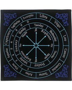 VELVET PENDULUM MAT ENGLISH -ASTROLOGY IN COLORS
