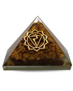 Orgonite Pyramid-Solar Plexus Yellow Jasper 40 mm
