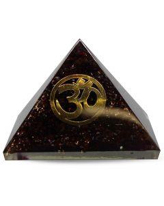 Orgonite Pyramid-Garnet, Om 40 mm