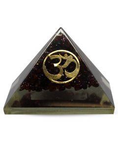Orgonite Pyramid-Garnet, Om 70 mm