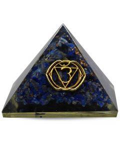 Orgonite pyramid - Third Eye chakra, Sodalite