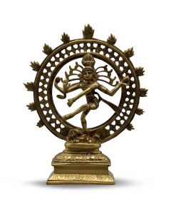 Natraj Dancing Double Ring (Brown Gold Finish) 9""