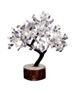 Gem Tree With Charms 300 Beads-Inner-Amethyst & Rose Quartz