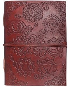 LEATHER JOURNAL - LEATHER CORD TO WRAP AROUND CHAKRA  ( 3 x