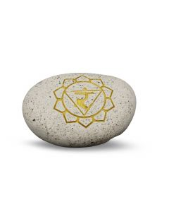 Pebble- Engraved River Stone 3th Chakra Yellow