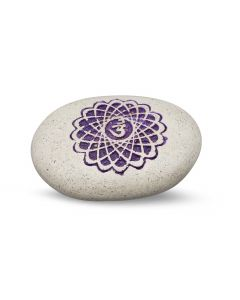 Pebble - Engraved River Stone 7th Chakra purple