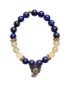 Bracelet Lapis Rutilated with Ganesha pendant