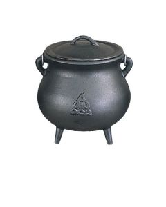 Cast Iron Cauldron - Triquetra