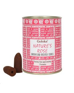 Goloka Nature's Rose Back Flow Cones pack (12 cans)