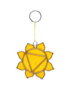 Zonnevlecht Chakra Mini-Symbool Suncatcher