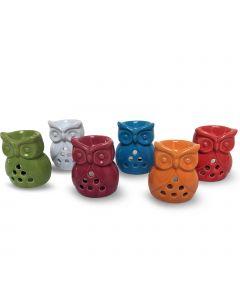 Joyful colors owl burners