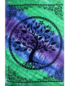 TAPESTRY - TREE OF LIFE MULTIFAITH COTTON W/COLOR SHEET ONLY