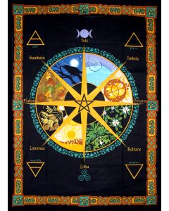 COTTON TAPESTRY  PAGAN CALENDAR 52 x 76""