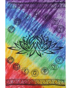TAPESTRY - CHAKRA LOTUS COTTON W/COLOR SHEET ONLY