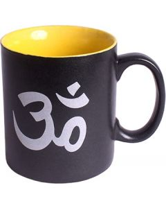 CERAMIC COFFEE MUG BLACK - OM