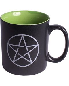 CERAMIC COFFEE MUG BLACK - PENTACLE