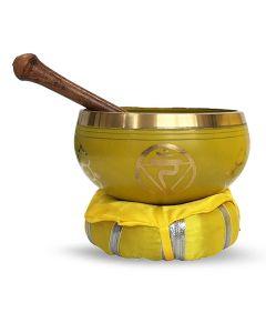 Brass Singing Bowl with stick & Cusion  10 cm Solar Plexus C